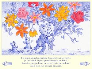 Sentir et caresser les fleurs du bout des doigts pour voir la vie en couleur et accéder à une page de coloriage cachée